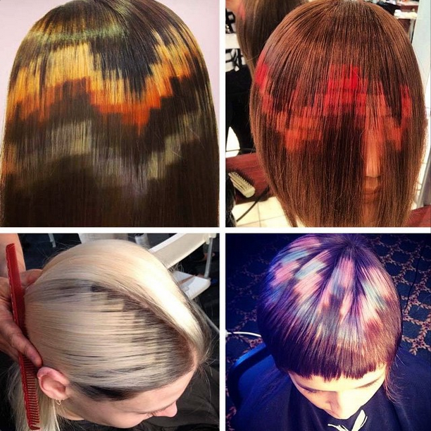 hair dye patterns prettysweaty